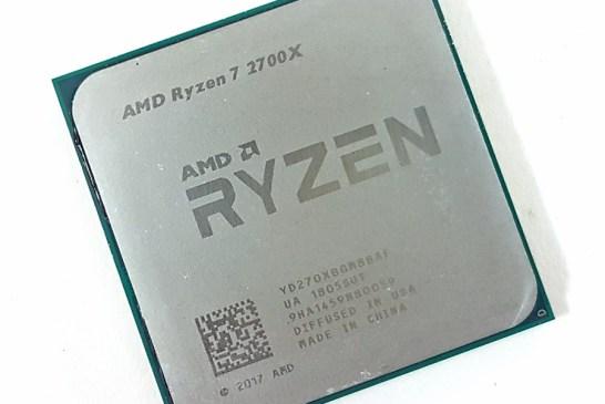 AMD Ryzen 7 2700X CPU top