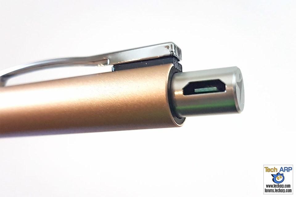 Genius Pen micro USB port