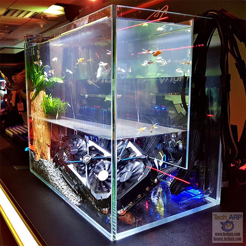 aorus pc aquarium mod computer gigabyte