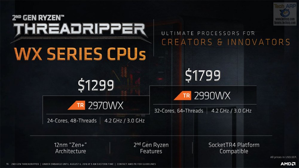 The 2nd Gen Threadripper Processor Family Revealed!