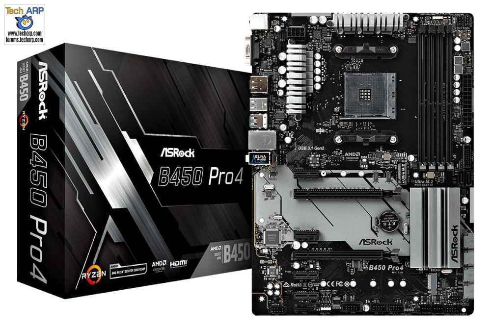 First AMD B450 Motherboards - ASRock B450 Pro4