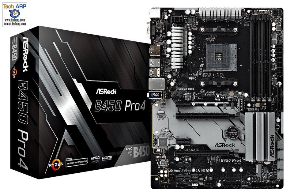 First AMD B450 Motherboards - ASRock B450 Pro4