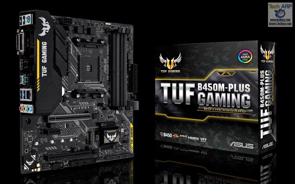 First AMD B450 Motherboards - ASUS TUF B450M-PLUS Gaming