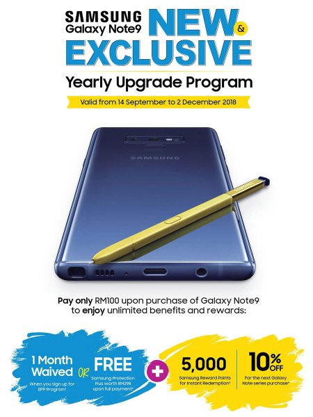 Samsung Galaxy Note9 Yearly Upgrade Program