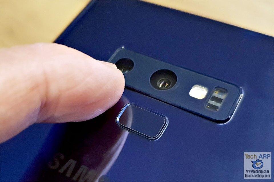 Samsung Galaxy Note9 fingerprint sensor