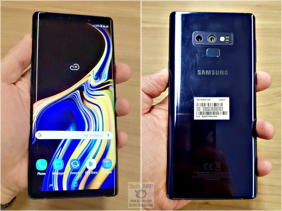 Samsung Galaxy Note9 in hand