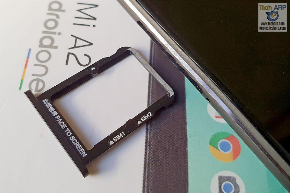 Xiaomi Mi A2 SIM tray