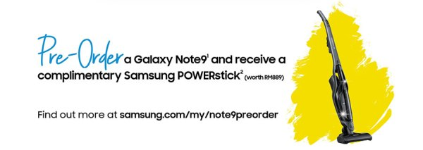 Samsung Galaxy Note9 512GB Ocean Blue pre-order offer