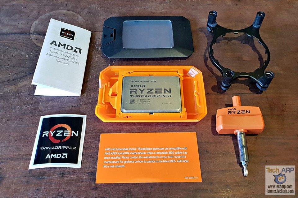 AMD Ryzen Threadripper 2970WX box contents