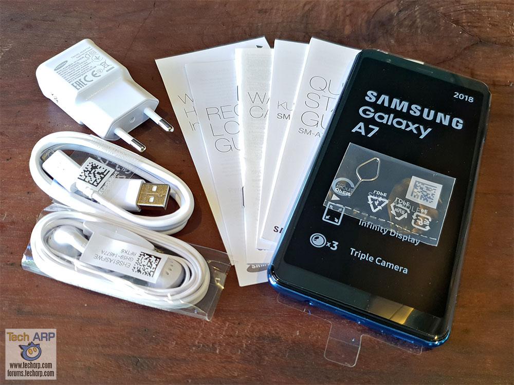 Samsung Galaxy A7 2018 box contents
