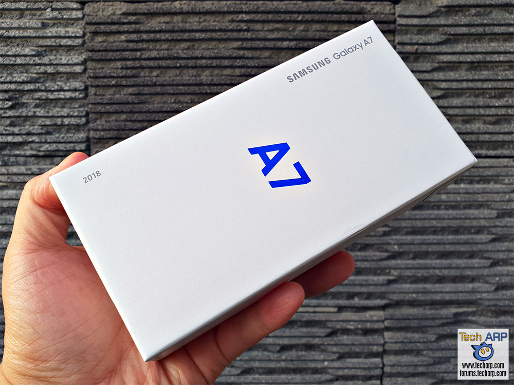 Samsung Galaxy A7 2018 box