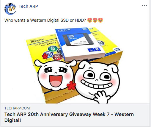 Tech ARP 20th Anniversary Giveaway Week 7 - Western Digital