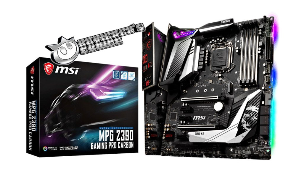 MSI MPG Z390 Gaming Pro Carbon Review Award