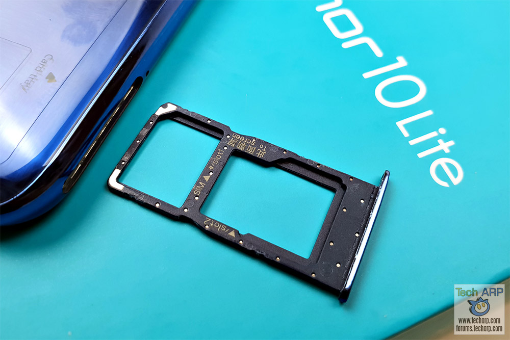 HONOR 10 Lite SIM tray