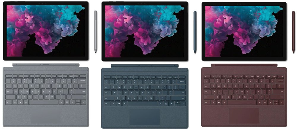 Microsoft Surface Pro 6 colours