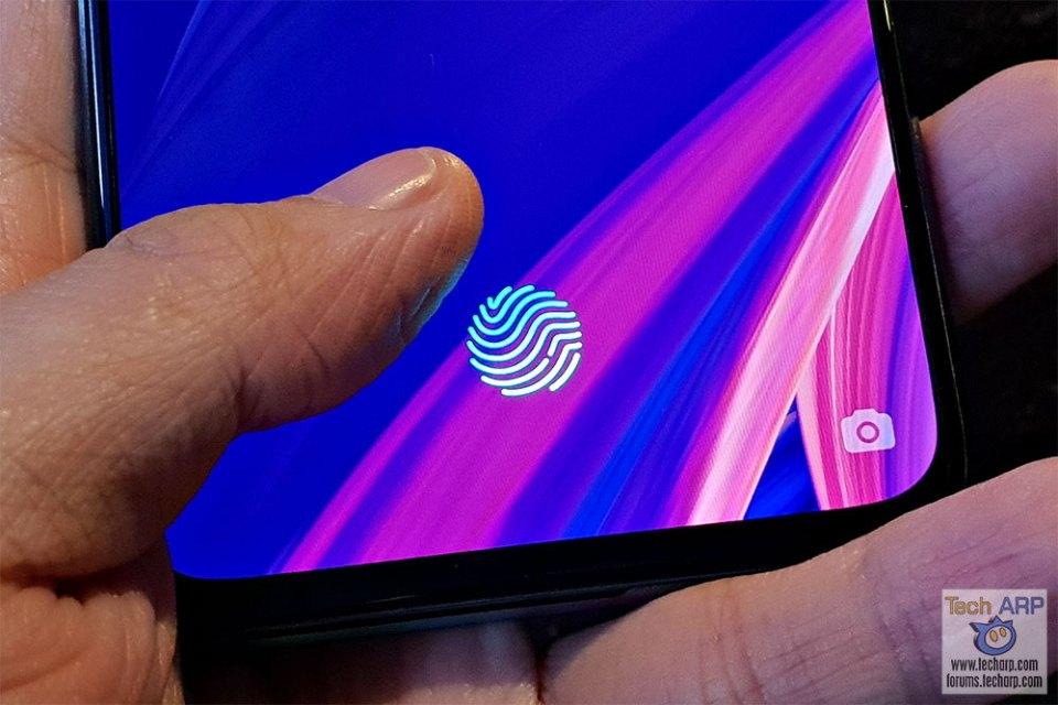 OPPO R17 Pro fingerprint sensor
