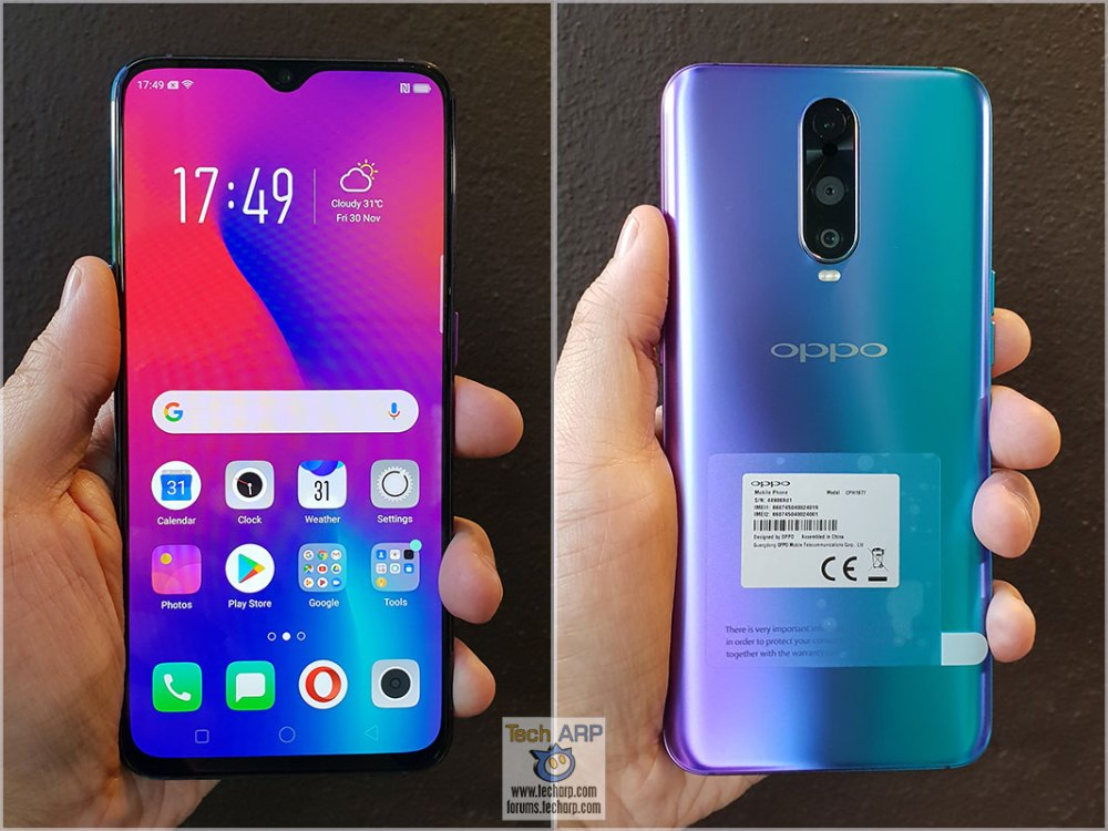 OPPO R17 Pro in hand
