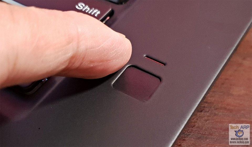 Lenovo ThinkPad X1 Extreme fingerprint sensor