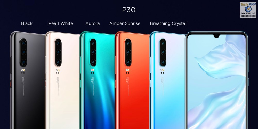 HUAWEI P30 Colour Comparison