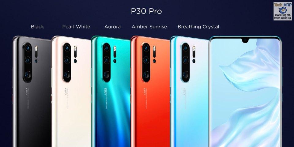 HUAWEI P30 Pro Colour Comparison