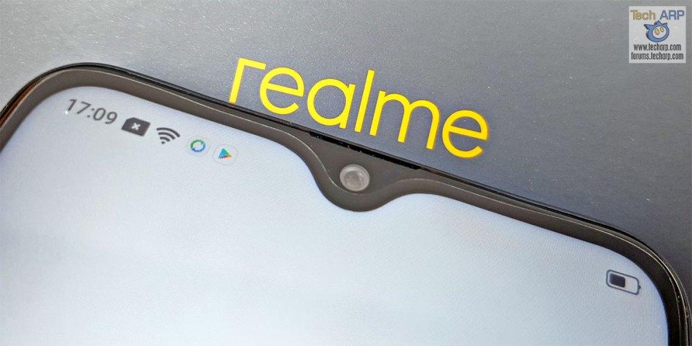 Realme 3 dewdrop notch display