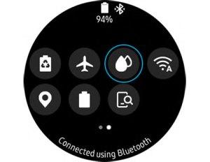 Samsung Water Lock Mode in Quick Setttings