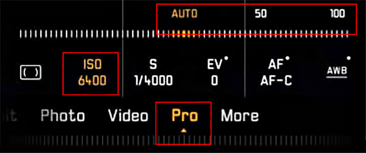 HUAWEI P30 Pro Mode ISO sensitivity