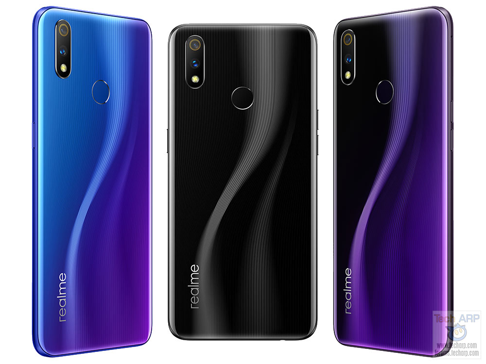 Realme 3 Pro colour options