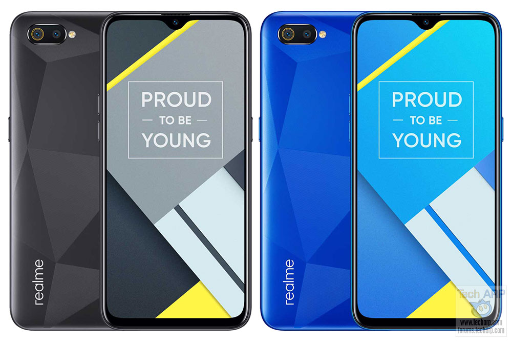 Realme C2 colour options