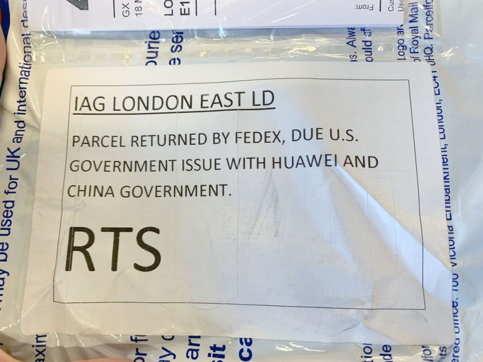 FedEx rejects PCMag HUAWEI P30