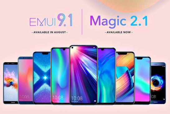 HONOR EMUI 9.1 + Magic UI 2.1 Updates Announced!