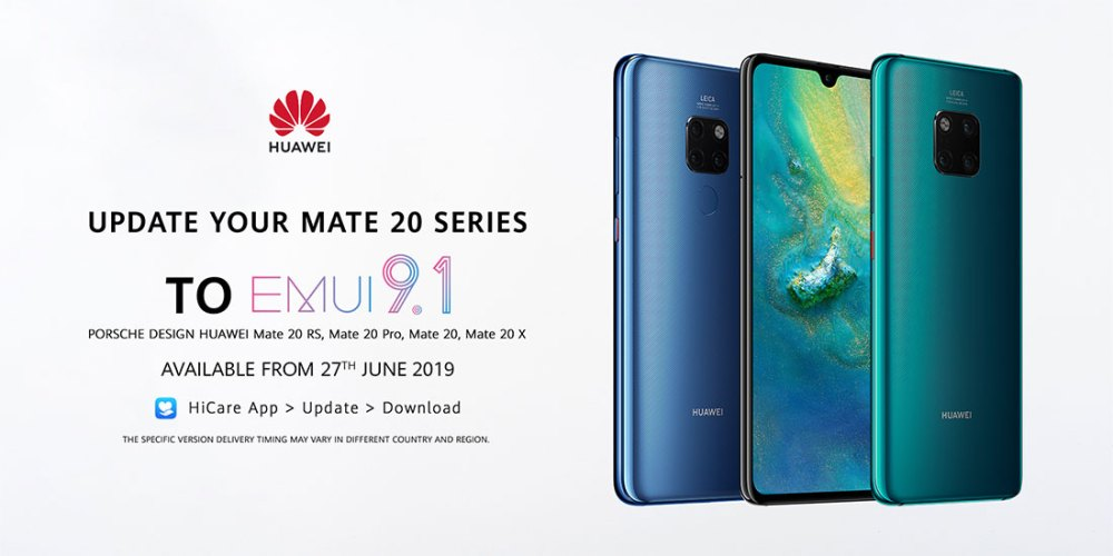 EMUI 9.1 Upgrade For HUAWEI Mate 20 Series Coming Up!