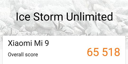 Xiaomi Mi 9 3DMark results