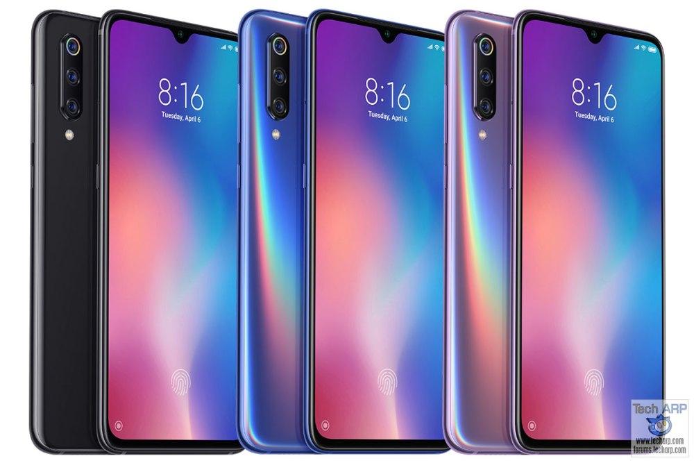 Xiaomi Mi 9 colour options