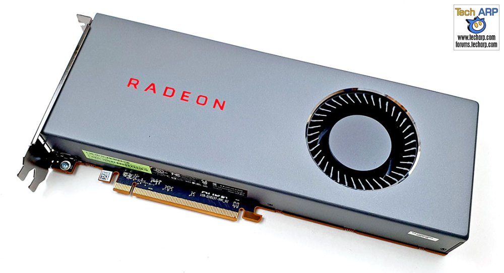 AMD Radeon RX 5700 card diagonal