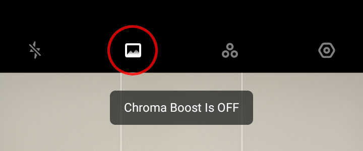Realme Chroma Boost off