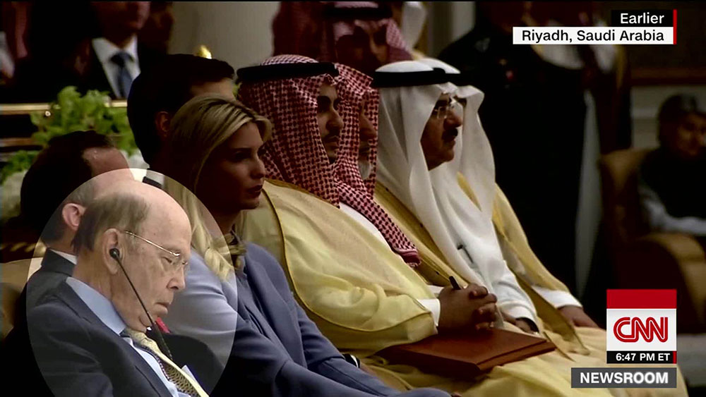 Wilbur Ross sleeping