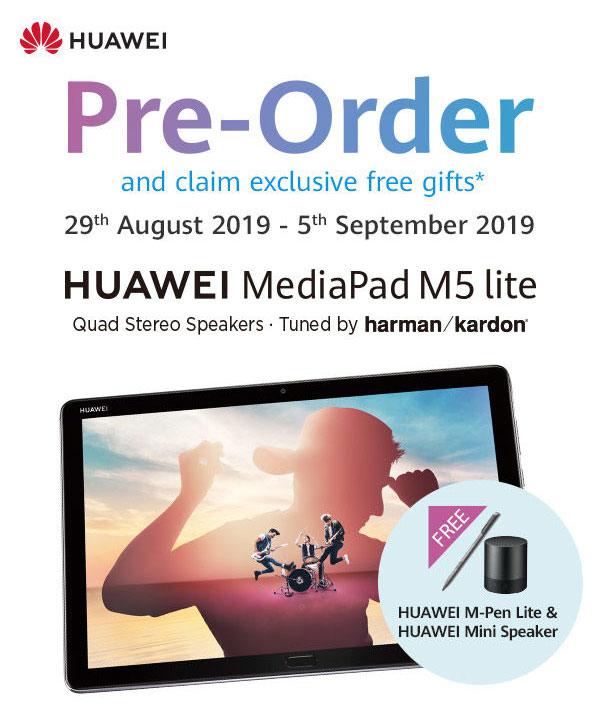 HUAWEI MediaPad M5 Lite pre-order deal