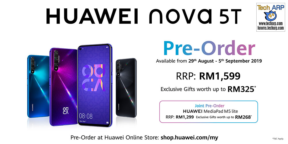 HUAWEI nova 5T pre-order deal