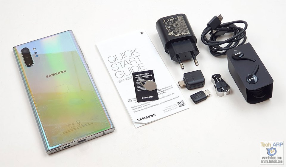 Samsung Galaxy Note 10 Plus box contents