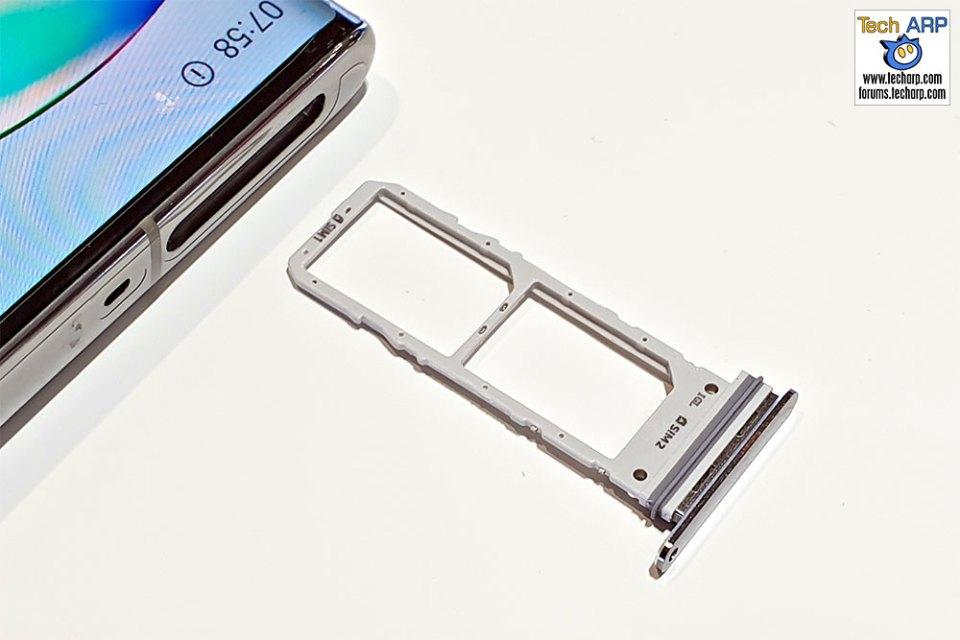 Samsung Galaxy Note 10 dual SIM tray