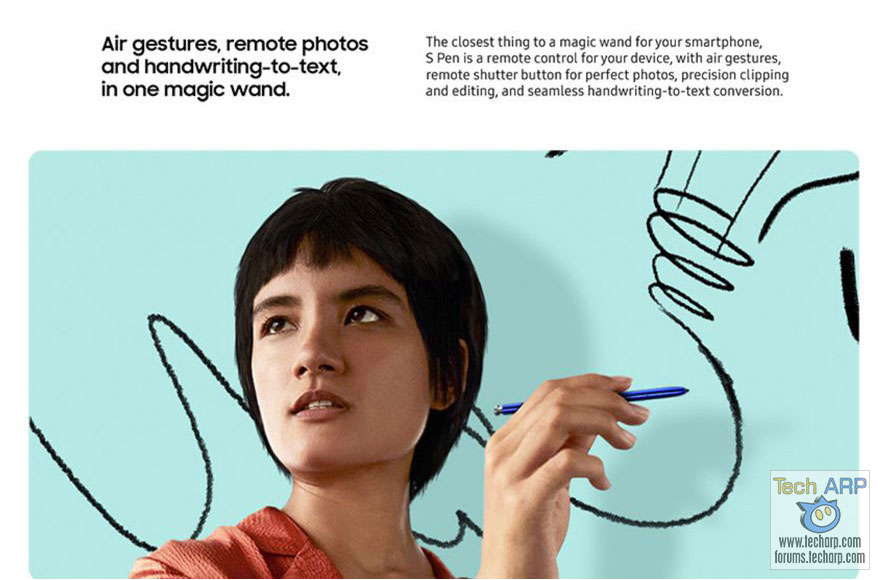 Samsung Galaxy Note 10 Air Gestures leak