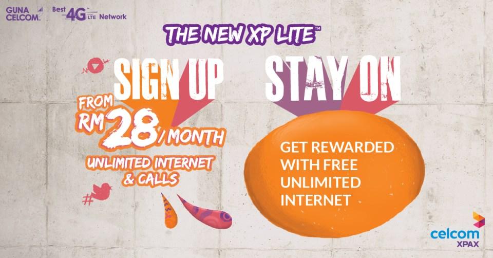 Celcom Xpax XP Lite free Internet