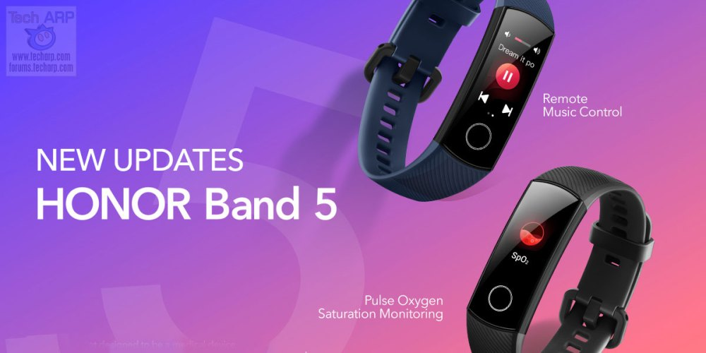 HONOR Band 5 To Add SpO2 + Remote Music Controls!