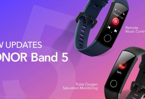 HONOR Band 5 To Add SpO2 + Remote Music Control!