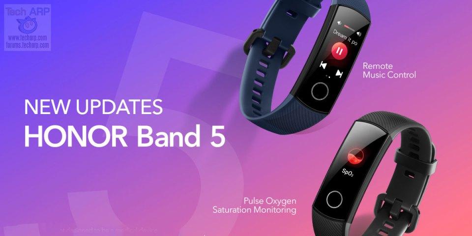 HONOR Band 5 To Add SpO2 + Remote Music Controls!