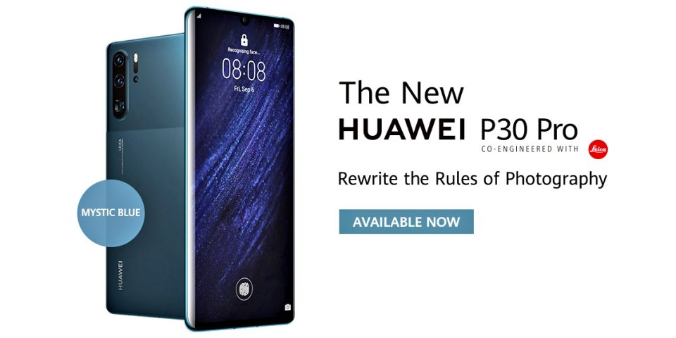New HUAWEI P30 Pro Mystic Blue Available NOW!