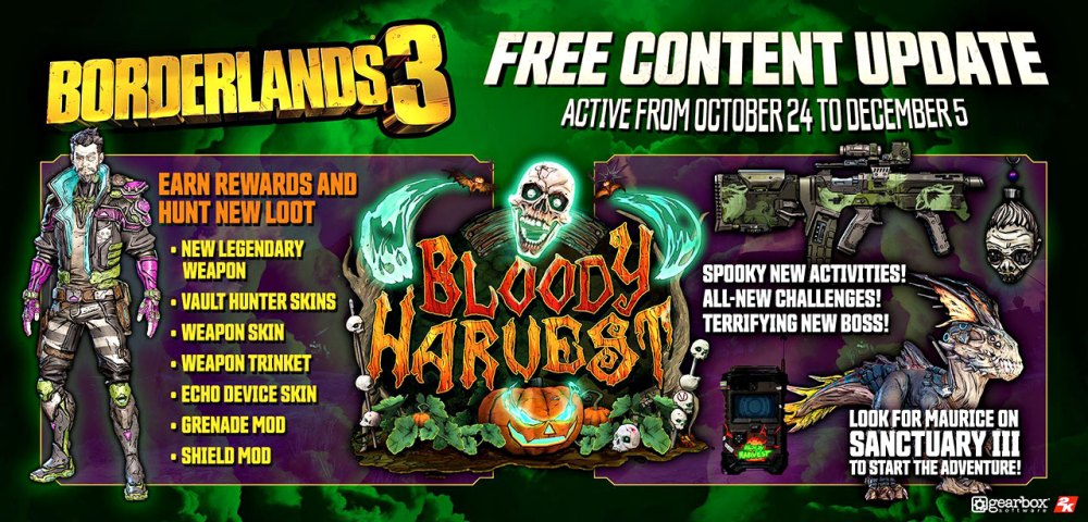 Borderlands 3 Bloody Harvest info