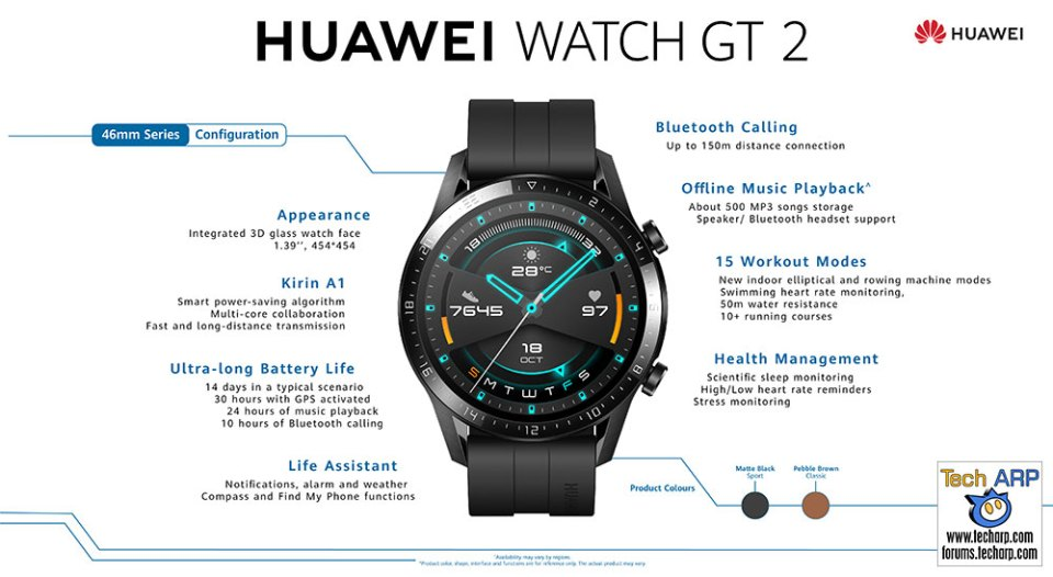 HUAWEI WATCH GT 2 Specifcations