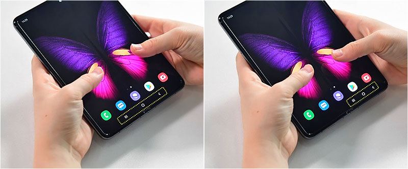 Using the Samsung Galaxy Fold
